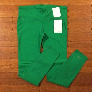 NWT GapFit gFast athletic leggings - green point